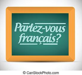 french., scritto, lei, parlare