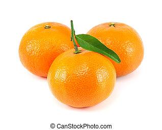fresco, bianco, mandarino, succoso, fondo