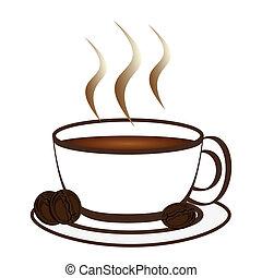 fresco, caffè, gr, aromatico, tazza