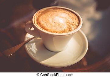 fresco, caffè, saporito, tazza