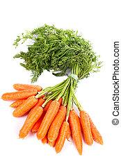 fresco, carote, mazzo