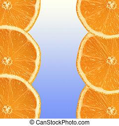 fresco, fette, arancia
