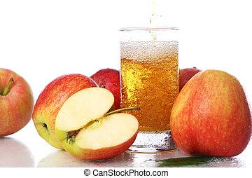 fresco, freddo, succo mela