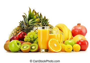 fresco, fruits., bilanciato, varietà, dieta, composizione