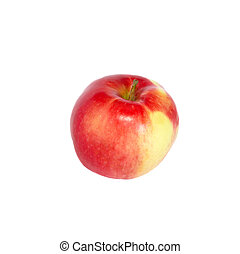 fresco, mela rossa, white., isolato