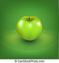 fresco, mela verde