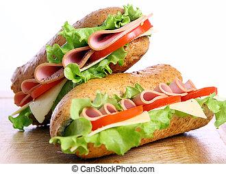 fresco, panino, saporito