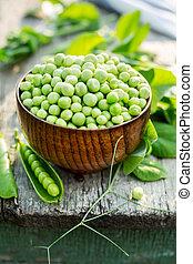 fresco, piselli verdi