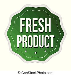 fresco, prodotto, o, adesivo, etichetta