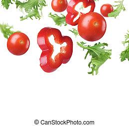 fresco, sano, bordo, verdura