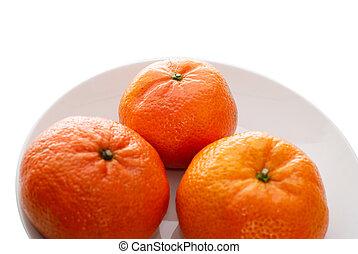 fresco, succoso, mandarini