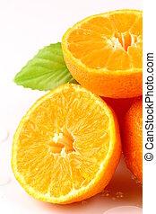 fresco, succoso, mandarino, mandarino