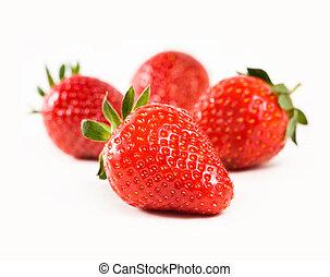 fresco, succoso, strawberries.