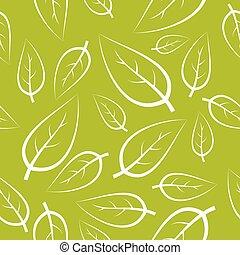 fresco, verde, mette foglie, struttura