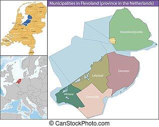 friesland, flevoland, provincia