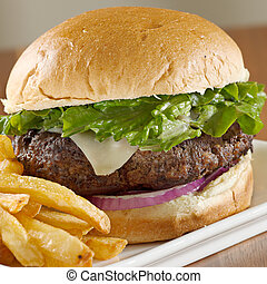 frigge, hamburger, pl, francese