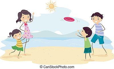 frisbee, famiglia