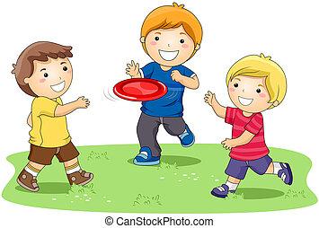 frisbee, gioco