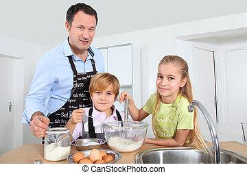 frittelle, bambini padre, preparare