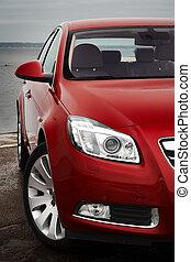 fronte, ciliegia, dettaglio, macchina rossa