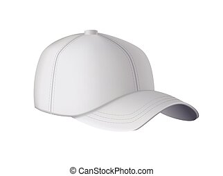 fronte, uniforme, grigio, sport, mockup, vuoto, realistico, vuoto, sagoma, vista., isolato, fondo., cap., baseball, hat., berretto, bianco