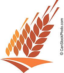 frumento, dorato, icona, campo agricoltura