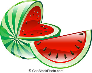 frutta, anguria, clipart, icona