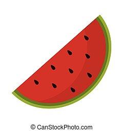 frutta, anguria, succoso, icona