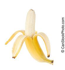 frutta, aperto, banana