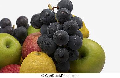 frutta mista, fresco, intero