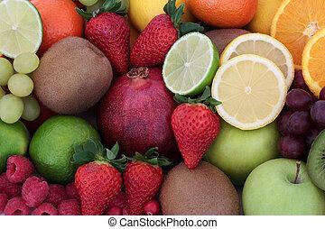 frutta, salute, succoso