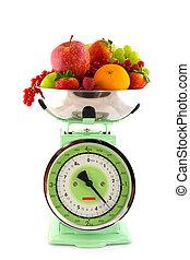 frutta, scala, dieta