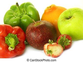 frutta, &, vario, veg