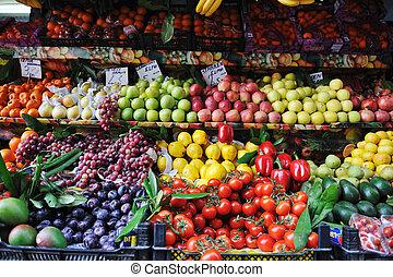 frutte, mercato fresco, verdura