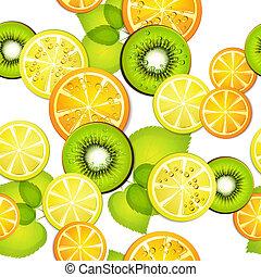 frutte, modello, seamless