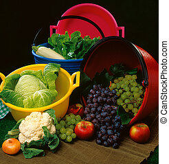 frutte, nvegetables