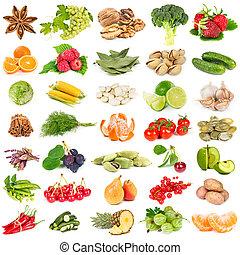 frutte, spezie, set, noci, verdura