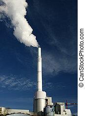 fumi, pianta, atmosfera, potere, emettere
