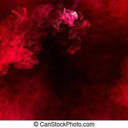 fumo, fondo, rosso