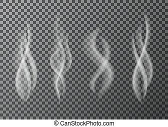 fumo, tazza, caldo, tea., caffè, o