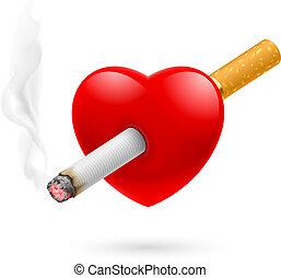 fumo, uccidere, cuore