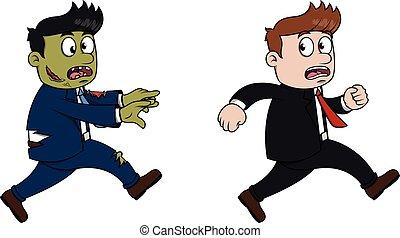 funzionamento uomo, affari, zombie