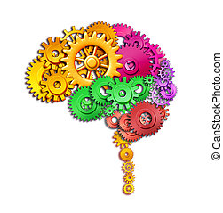 funzione, cervello, umano