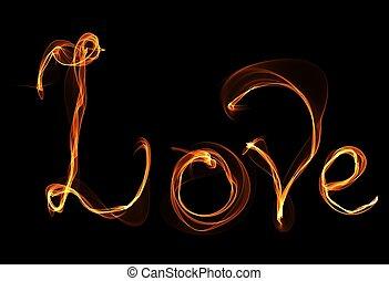 fuoco, amore, illustrazione