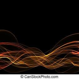 fuoco, astratto, cornice, copyspace