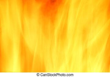 fuoco, astratto, sfondo giallo