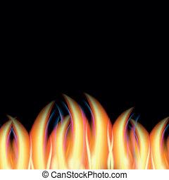 fuoco, astratto, vettore