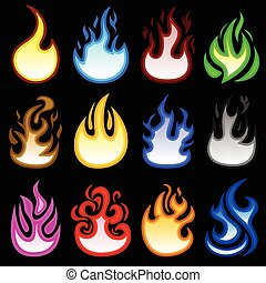 fuoco, bruciatura, fiamma, vampa, icona