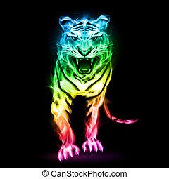 fuoco, colorito, tiger.