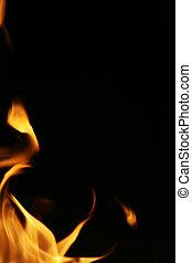 fuoco, fiamme, bordo, fondo, texture.